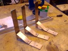 кронштейни з шліфованої нержавіючої сталі